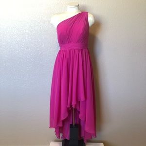 JJ'S House pink one shoulder gown